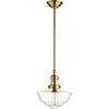 This item: Aged Brass with Clear One-Light 12-Inch Pendant