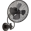 This item: Piazza Black 18-Inch Patio Wall Fan