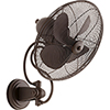 This item: Piazza Oiled Bronze  18-Inch Patio Wall Fan