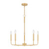 This item: Abner Aged Brass Five-Light Chandelier