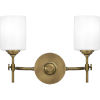 This item: Aria Weathered Brass Two-Light Bath Vanity with Opal Glass