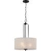 This item: Blanche Matte Black Three-Light Pendant