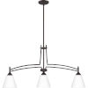 This item: Billingsley Old Bronze 38-Inch Three-Light Linear Chandelier