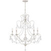 This item: Bray Antique White Five-Light Chandelier