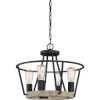 This item: Brockton Grey Ash Four-Light Convertible Pendant