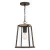 This item: Brockton Rustic Black One-Light Outdoor Pendant