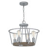This item: Brockton Brushed Silver 18-Inch Four-Light Pendant