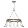 This item: Brockton Brushed Silver 25-Inch Six-Light Chandelier