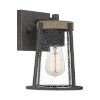 This item: Brockton Rustic Black Seven-Inch One-Light Outdoor Wall Mount