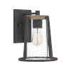 This item: Brockton Rustic Black Eight-Inch One-Light Outdoor Wall Mount