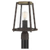 This item: Brockton Rustic Black One-Light Outdoor Post