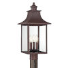 This item: Chancellor Copper Bronze 22-Inch Three-Light Outdoor Fixture