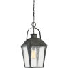 This item: Carriage Mottled Black 10-Inch One-Light Outdoor Hanging Lantern