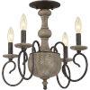 This item: Castile Rustic Black 18-Inch Four-Light Semi Flush Mount