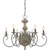 This item: Castile Rustic Black 29-Inch Six-Light Chandelier