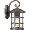 This item: Crusade Palladian Bronze 8-Inch One-Light Outdoor Wall Lantern