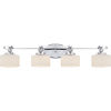 This item: Downtown Polished Chrome Four-Light LED Vanity