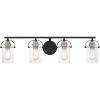 This item: Emerson Matte Black Four-Light Bath Vanity