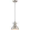 This item: Emery Brushed Nickel One-Light Mini Pendant