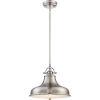 This item: Emery Brushed Nickel One-Light Pendant