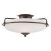 This item: Griffin Palladian Bronze 8-Inch Three-Light Flush Mount
