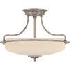 This item: Griffin Antique Nickel Three-Light Semi-Flush