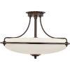 This item: Griffin Palladian Bronze Four-Light Semi-Flush