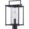 This item: Garrett Matte Black One-Light Outdoor Post Lantern with Transparent Glass