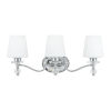 This item: Three-Light Polished Chrome Hollister Bath Fixture