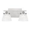 This item: Hunley Brushed Nickel Two-Light Bath Vanity
