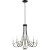 This item: Jada Matte Black Five-Light Chandelier