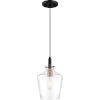 This item: June Earth Black One-Light Mini Pendant