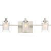 This item: Kolt Brushed Nickel LED Three-Light Bath Light
