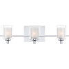 This item: Kolt Polished Chrome Three-Light LED Vanity with Outer Clear Glass