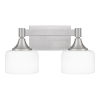 This item: Ladson Brushed Nickel Two-Light Bath Vanity