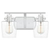 This item: Ledger Polished Nickel Two-Light Bath Vanity