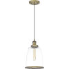 This item: Leo Antique Brass 8-Inch One-Light Mini Pendant with Clear Glass