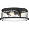 This item: Ludlow Earth Black Three-Light Semi-Flush Mount