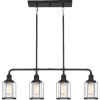 This item: Ludlow Earth Black 34-Inch Four-Light Island Chandelier