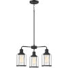 This item: Ludlow Earth Black 20-Inch Three-Light Chandelier