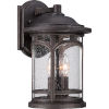 This item: Marblehead Palladian Bronze 14.5-Inch Height Three-Light Outdoor Wall Mounted