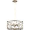 This item: Meadow Lane Vintage Gold Three-Light Convertible Pendant