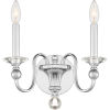 This item: Mila Polished Chrome Two-Light Wall Sconce