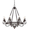 This item: Noble Rustic Black Eight-Light Chandelier