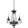 This item: Noble Rustic Black Three-Light Chandelier