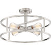 This item: New Harbor Brushed Nickel Four-Light Semi Flush Mount