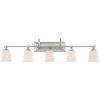 This item: Nicholas Brushed Nickel Five-Light Bath Light
