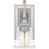 This item: Nicholas Brushed Nickel One-Light Wall Sconce with Clear Glass