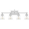 This item: Nicholas Polished Chrome Four-Light Bath Vanity with Transparent Glass