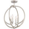 This item: Orion Brushed Nickel 18-Inch Four-Light Semi-Flush Mount